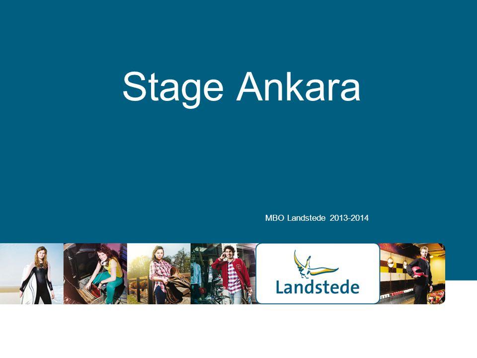Stage Ankara MBO Landstede 2013-2014