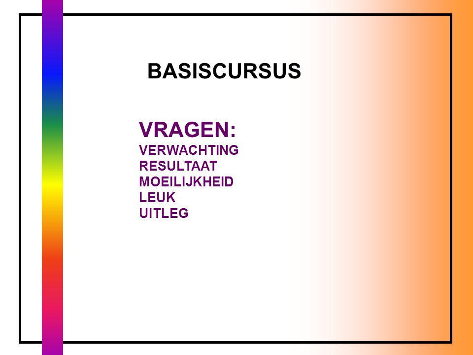 BASISCURSUS KLEUR EVALUATIE