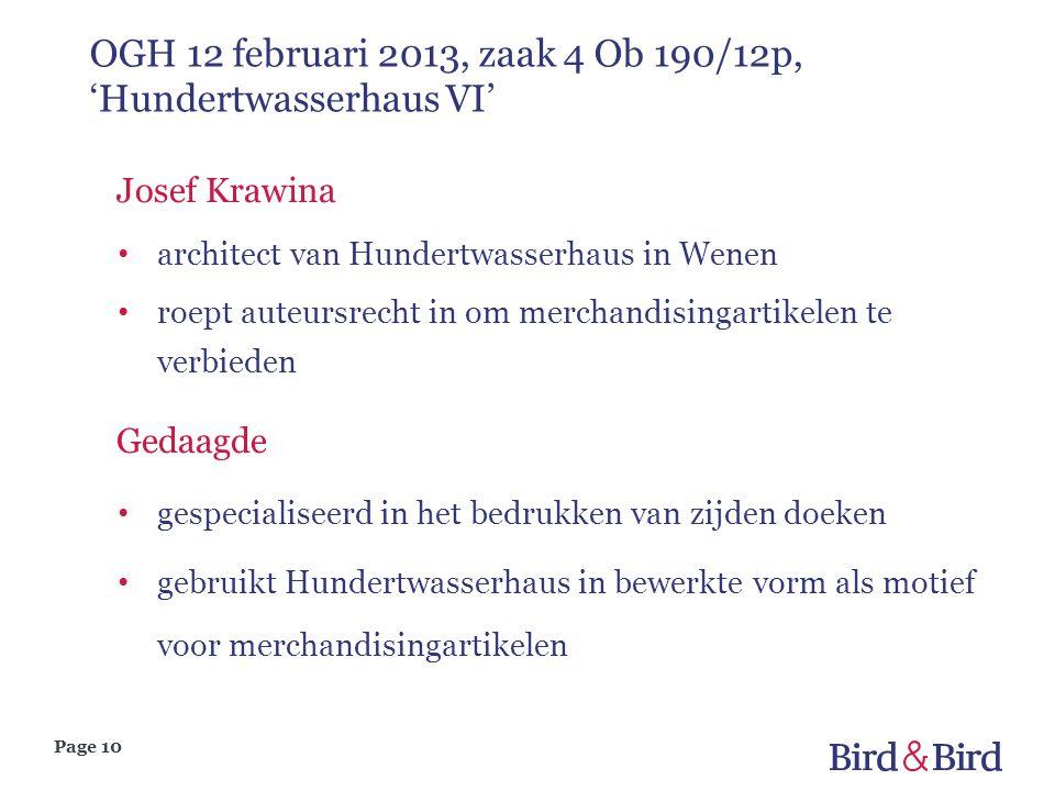 Page 10 OGH 12 februari 2013, zaak 4 Ob 190/12p, 'Hundertwasserhaus VI' Josef Krawina • architect van Hundertwasserhaus in Wenen • roept auteursrecht