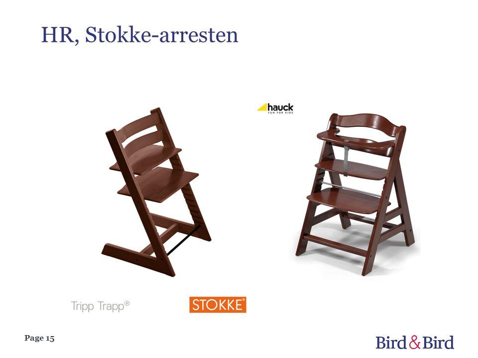 Page 15 HR, Stokke-arresten