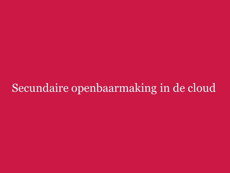 Secundaire openbaarmaking in de cloud