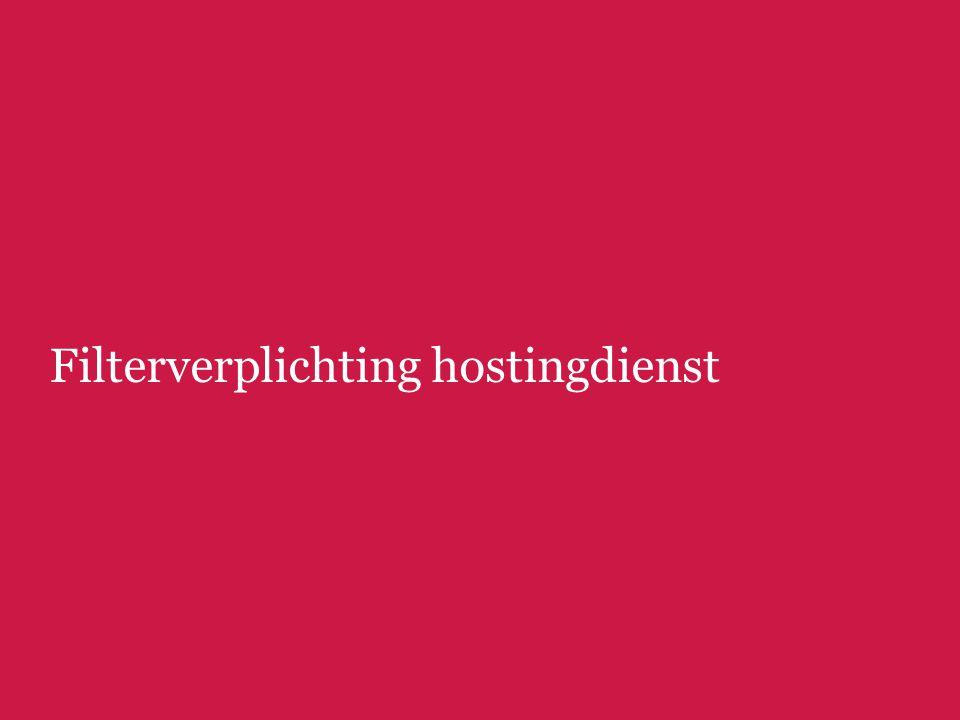 Filterverplichting hostingdienst