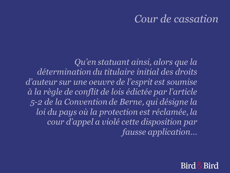 Page 8 Cour de cassation 10 april 2013, zaak 11-12508, Fabrice X/ABC Intercontinental Vgl.