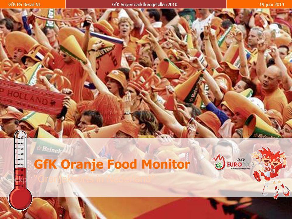 16 GfK PS Retail NLGfK Supermarktkengetallen 201019 juni 2014 Oranjekoorts in Nederland GfK Oranje Food Monitor