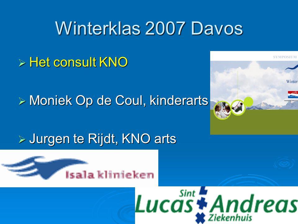 Winterklas 2007 Davos  Het consult KNO  Moniek Op de Coul, kinderarts  Jurgen te Rijdt, KNO arts