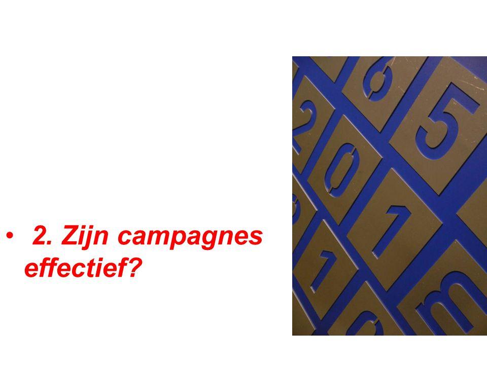 • 2. Zijn campagnes effectief?