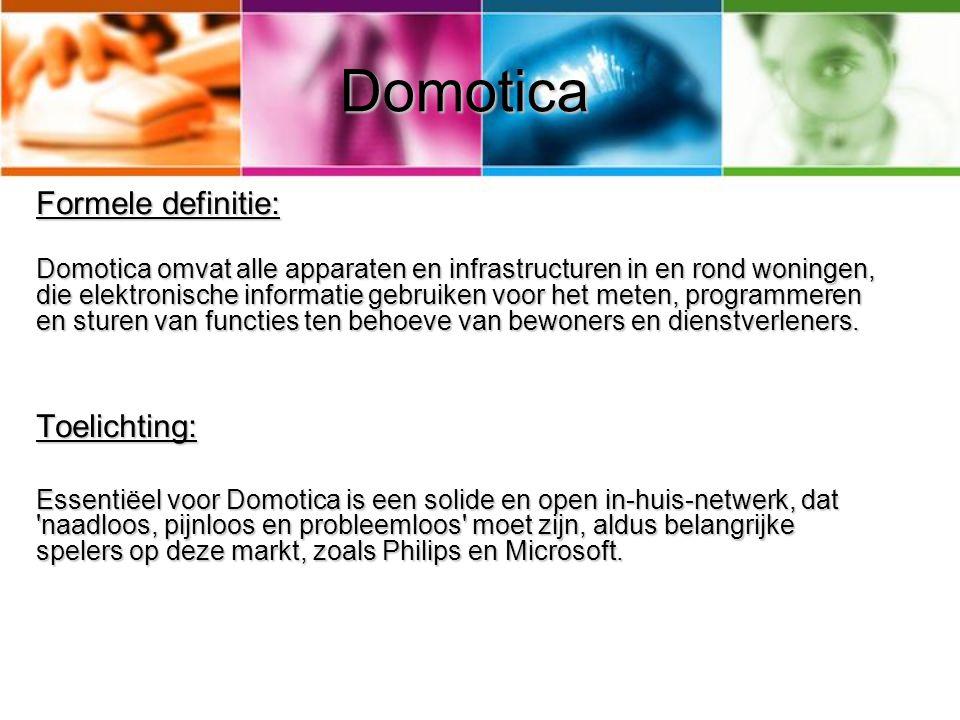 Standaarden 3 lagen: Domotica standaarden zijn in verschillende categoriën in te delen aan de hand van het uit de informatie en communicatie technologie afkomstige Open System Interconnection Model (OSI-model).