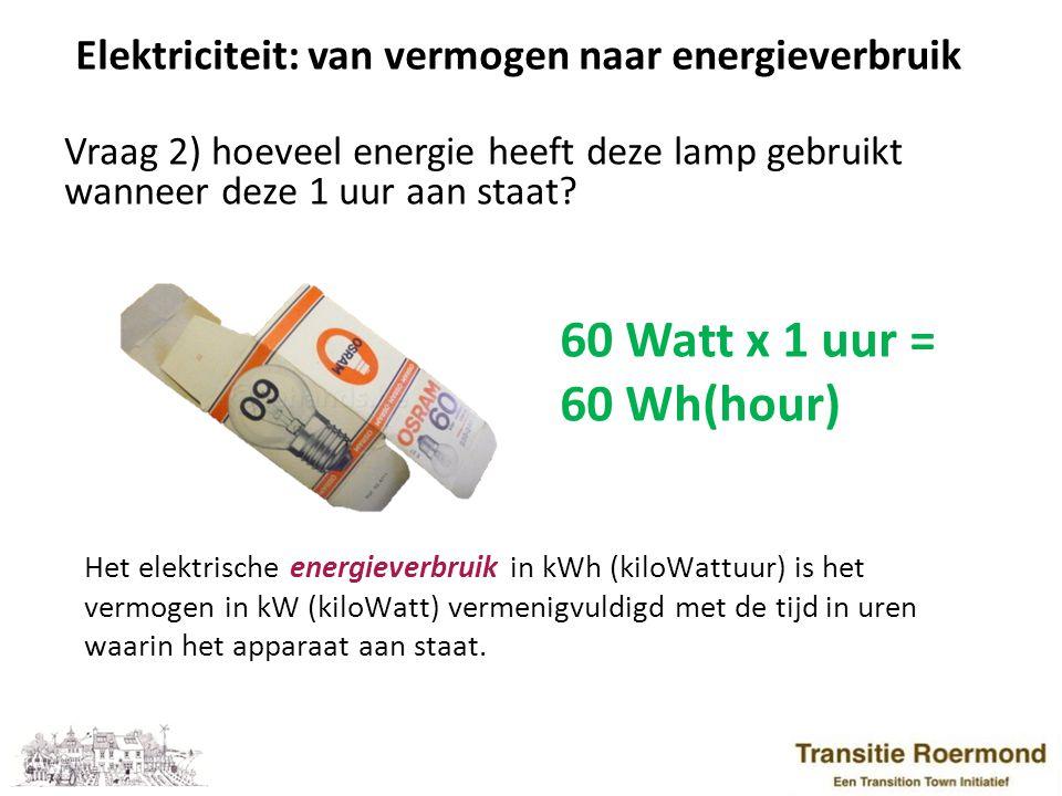 Elektriciteit: van vermogen naar energieverbruik Vraag 3) wat is het vermogen van deze terrasheater.