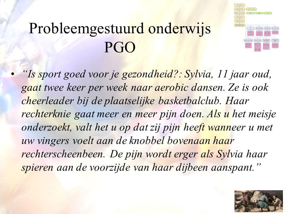"""Probleemgestuurd onderwijs PGO •""""Is sport goed voor je gezondheid?: Sylvia, 11 jaar oud, gaat twee keer per week naar aerobic dansen. Ze is ook cheerl"""
