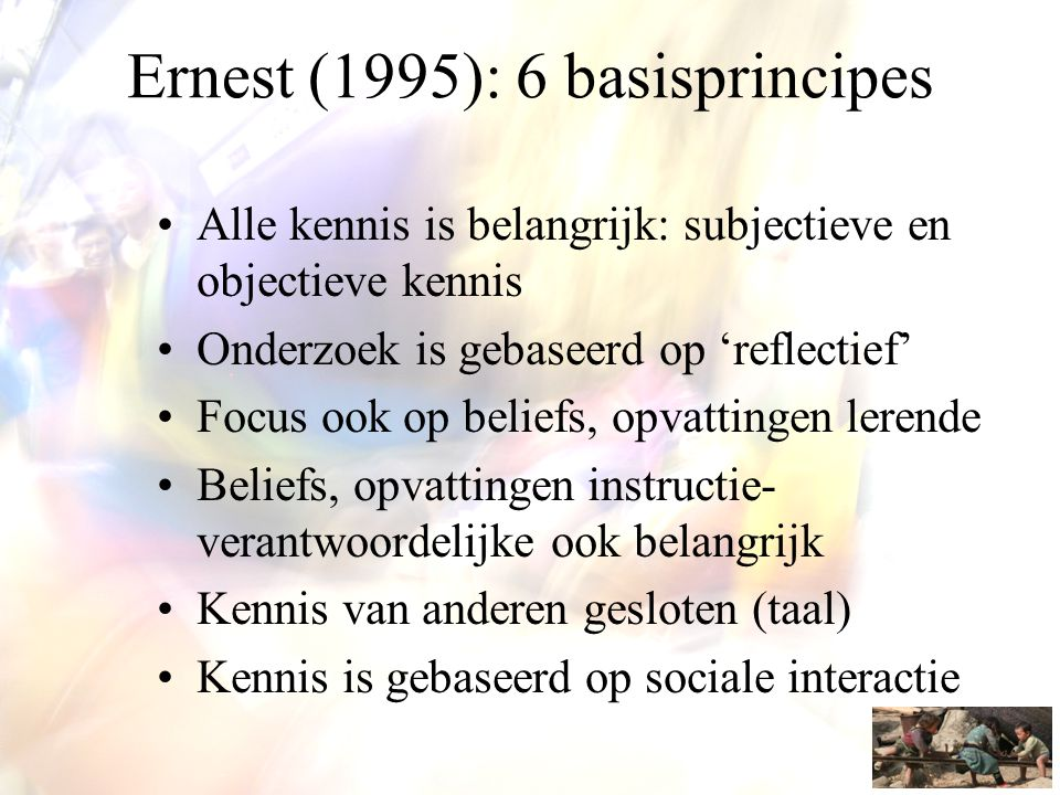 Na Bruner •'Discovery learning' benadering geactualiseerd •'Inquiry learning ', 'inquiry teaching'