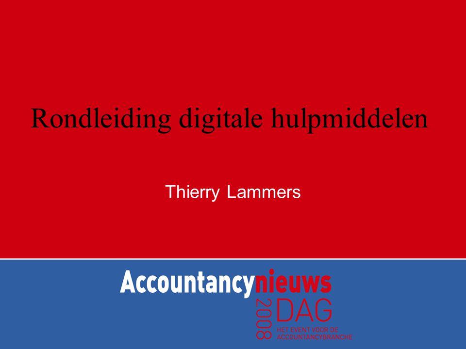 Rondleiding digitale hulpmiddelen Thierry Lammers