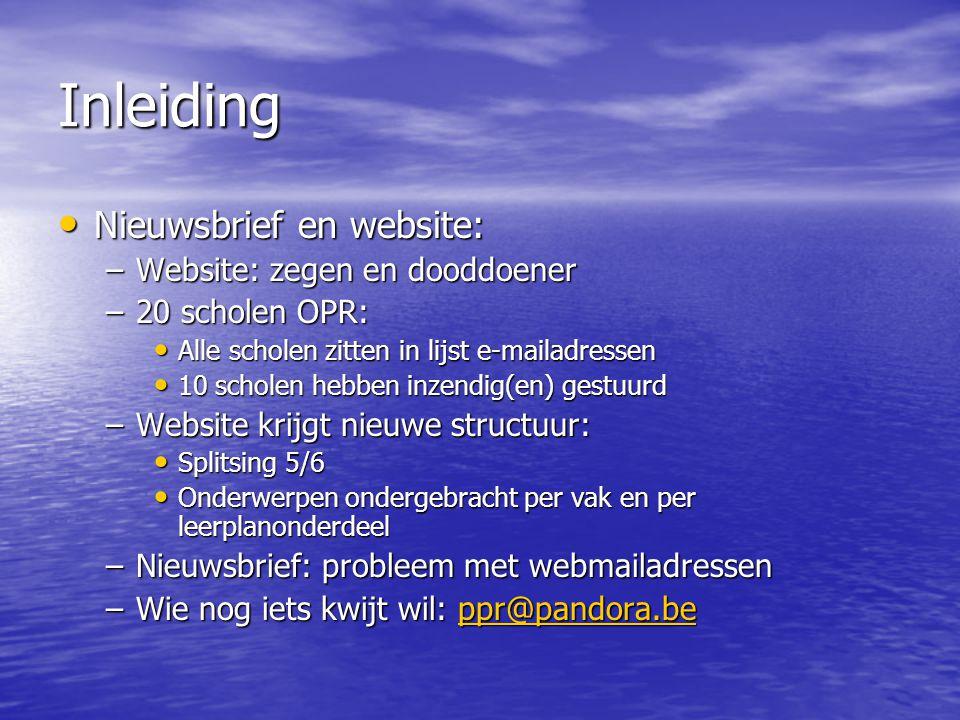 Inleiding  • Tip voor project Media: http://media.uni.be http://media.uni.be
