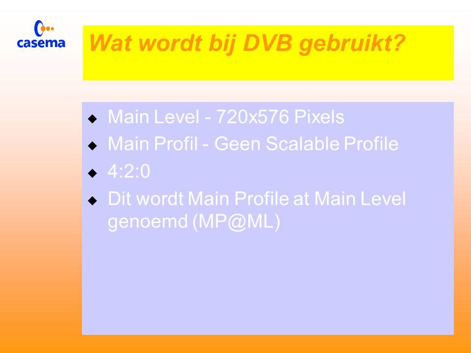 MPEG 2 Spatial Scalability  Zorgt voor verminderde resolutie bij grote BER  Maakt HDTV mogelijk bij beperkte Bitrate