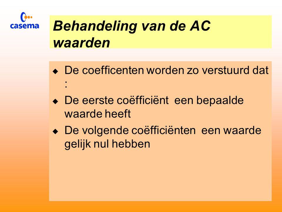 Behandeling van de DC waarde  De DC coëfficiënt heeft de grootste energie inhoud  Is zelden nul  De waarde van de DC coëfficiënt wordt vergeleken met die van het vorige blok.
