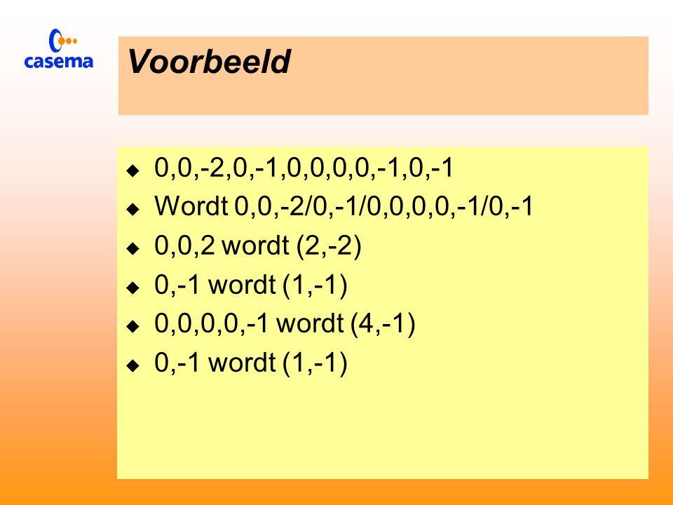 Behandeling van de AC waarden  De coefficenten worden zo verstuurd dat :  De eerste coëfficiënt een bepaalde waarde heeft  De volgende coëfficiënten een waarde gelijk nul hebben