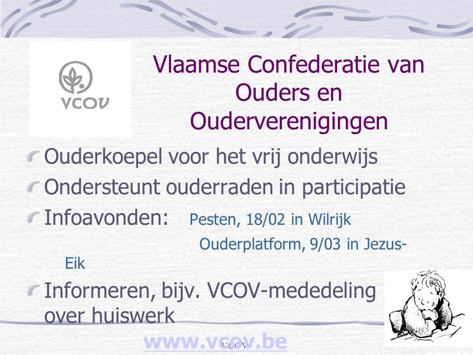 VCOV Vlaamse Confederatie van Ouders en Ouderverenigingen Ouderkoepel voor het vrij onderwijs Ondersteunt ouderraden in participatie Infoavonden: Pest