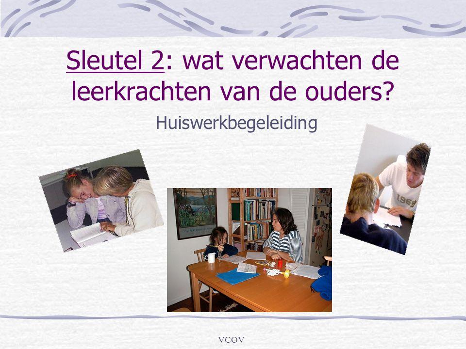 VCOV Sleutel 2: wat verwachten de leerkrachten van de ouders? Huiswerkbegeleiding