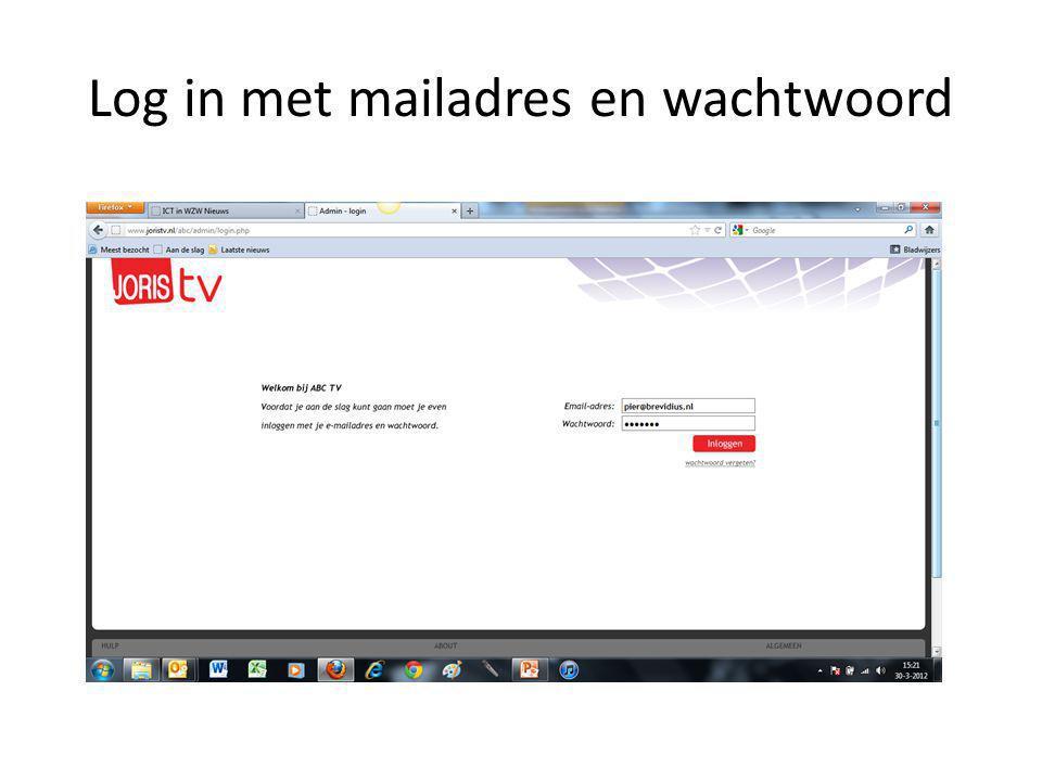 Log in met mailadres en wachtwoord