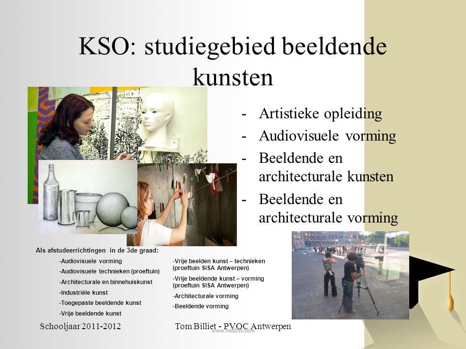 Schooljaar 2011-2012Tom Billiet - PVOC Antwerpen KSO: studiegebied beeldende kunsten -Artistieke opleiding -Audiovisuele vorming -Beeldende en archite