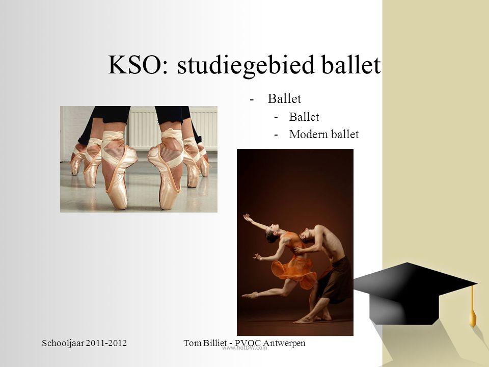 Schooljaar 2011-2012Tom Billiet - PVOC Antwerpen KSO: studiegebied ballet -Ballet -Modern ballet