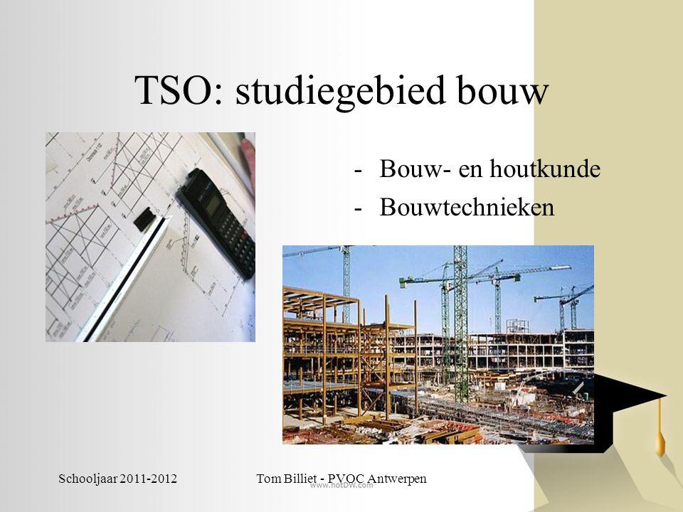 Schooljaar 2011-2012Tom Billiet - PVOC Antwerpen TSO: studiegebied chemie -Techniek Wetenschappen -Chemie -Farmaceutisch technisch assistent -Productie- en procestechnologie: chemie (momenteel niet ingericht) -Techniek wetenschappen