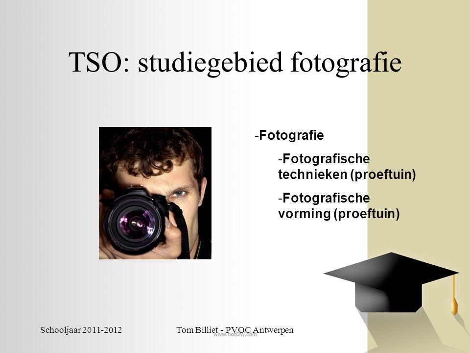 Schooljaar 2011-2012Tom Billiet - PVOC Antwerpen TSO: studiegebied fotografie -Fotografie -Fotografische technieken (proeftuin) -Fotografische vorming