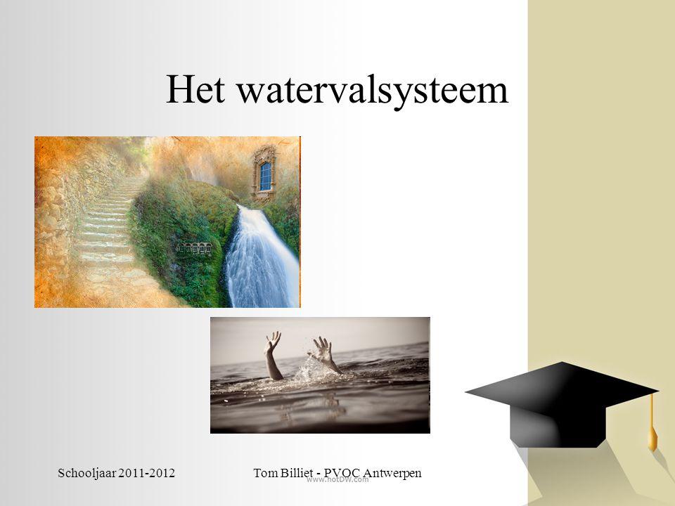 Schooljaar 2011-2012Tom Billiet - PVOC Antwerpen Het watervalsysteem