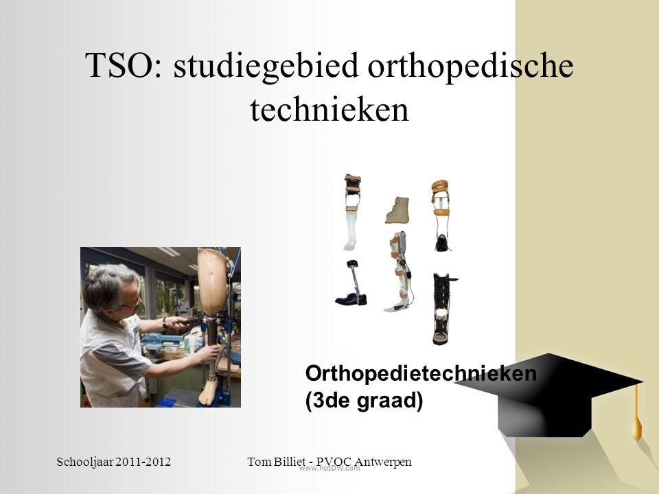 Schooljaar 2011-2012Tom Billiet - PVOC Antwerpen TSO: studiegebied personenzorg -Sociale en technische wetenschappen: -Gezondheids- en welzijnswetenschappen -Jeugd- en gehandicaptenzorg -Sociale en technische wetenschappen