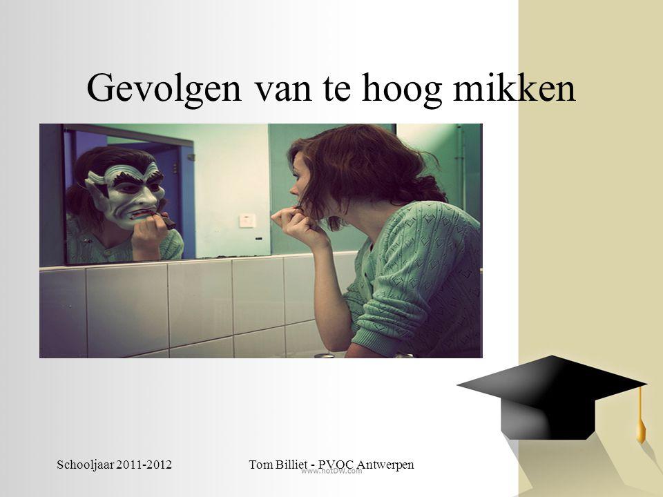 Schooljaar 2011-2012Tom Billiet - PVOC Antwerpen Gevolgen van te hoog mikken