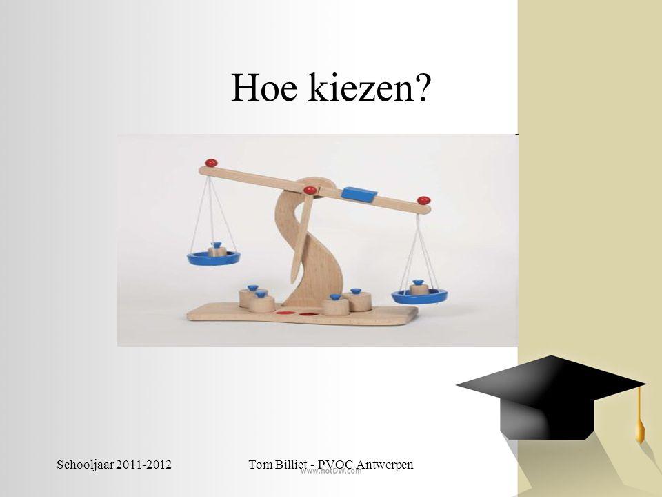 Schooljaar 2011-2012Tom Billiet - PVOC Antwerpen Het CLB kan helpen…