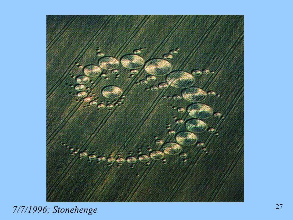 27 7/7/1996; Stonehenge