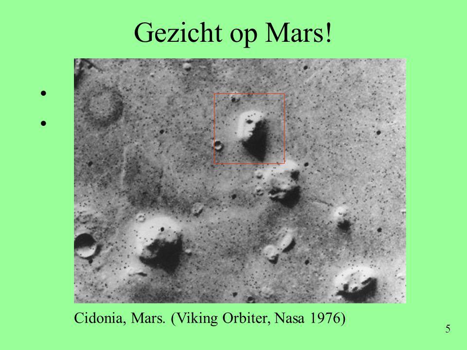 5 Gezicht op Mars! • • • • Cidonia, Mars. (Viking Orbiter, Nasa 1976)