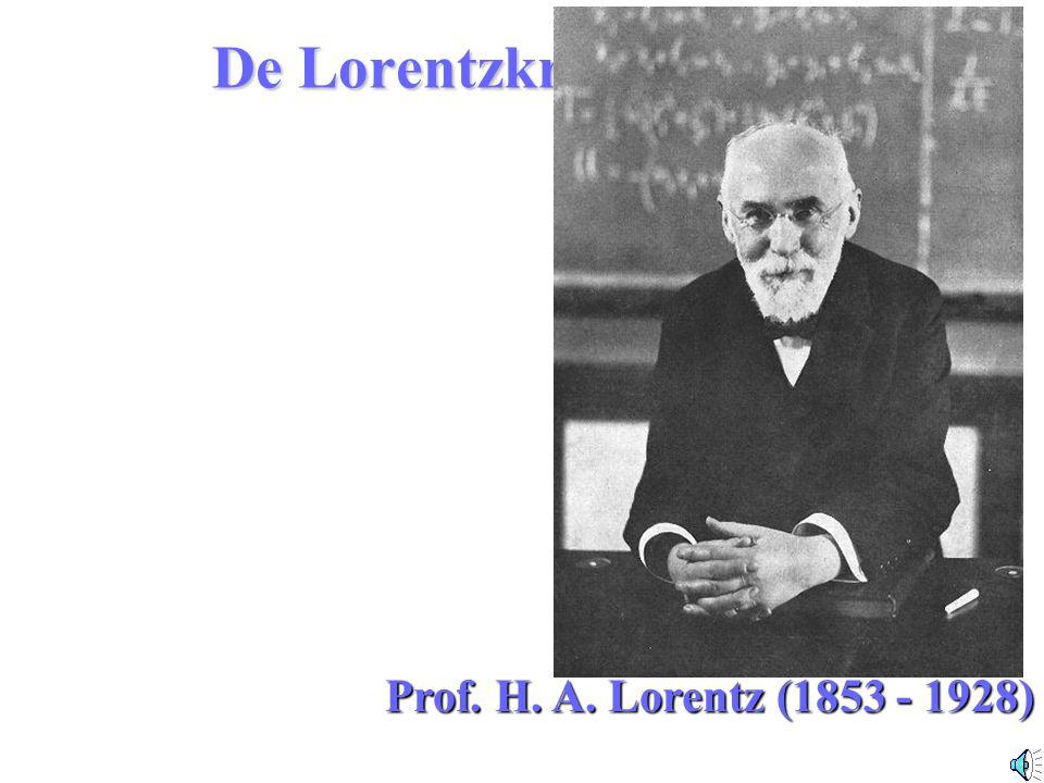 De Lorentzkracht Prof. H. A. Lorentz (1853 - 1928)