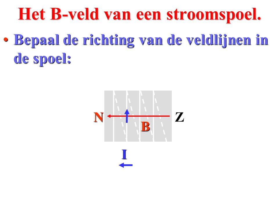 Bij de draad houd je een magneet van 0,50 T met breedte BC = 2,0 cm.Rekenvoorbeeld.