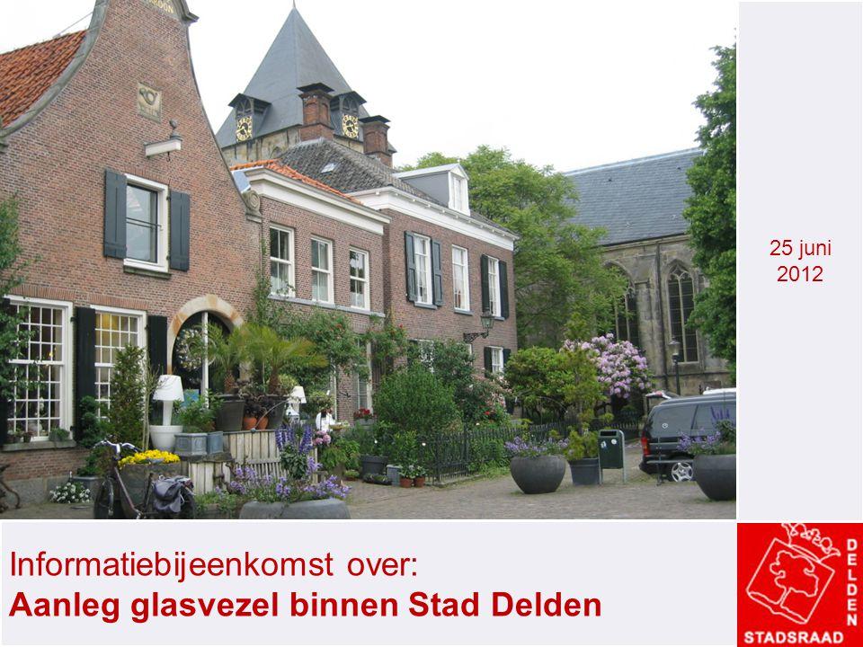 Informatiebijeenkomst over: Aanleg glasvezel binnen Stad Delden 25 juni 2012