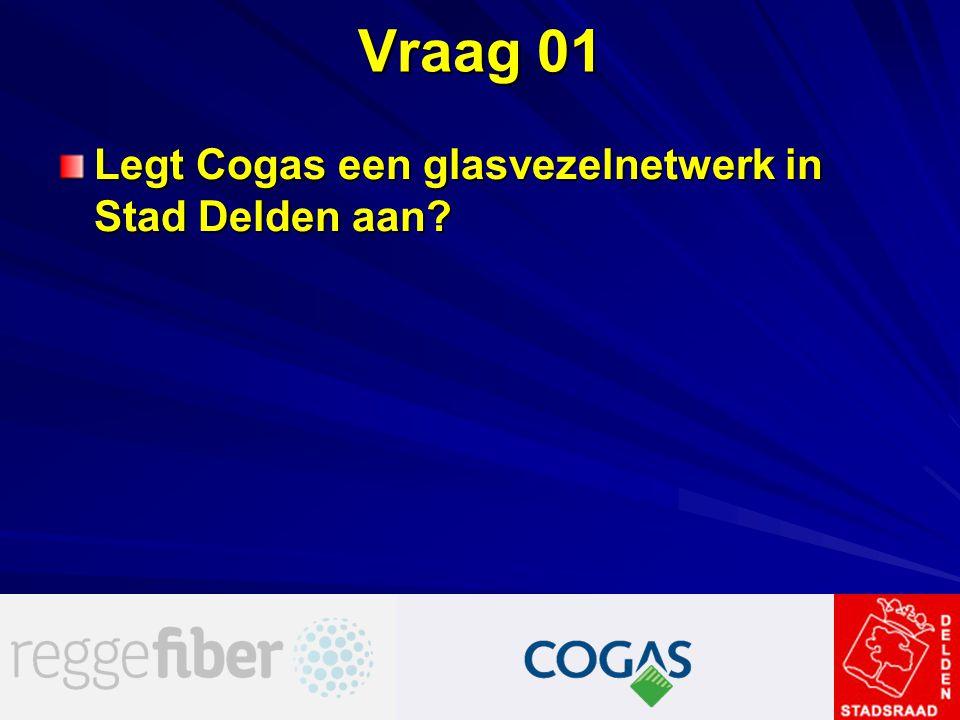 Vraag 01 Legt Cogas een glasvezelnetwerk in Stad Delden aan?