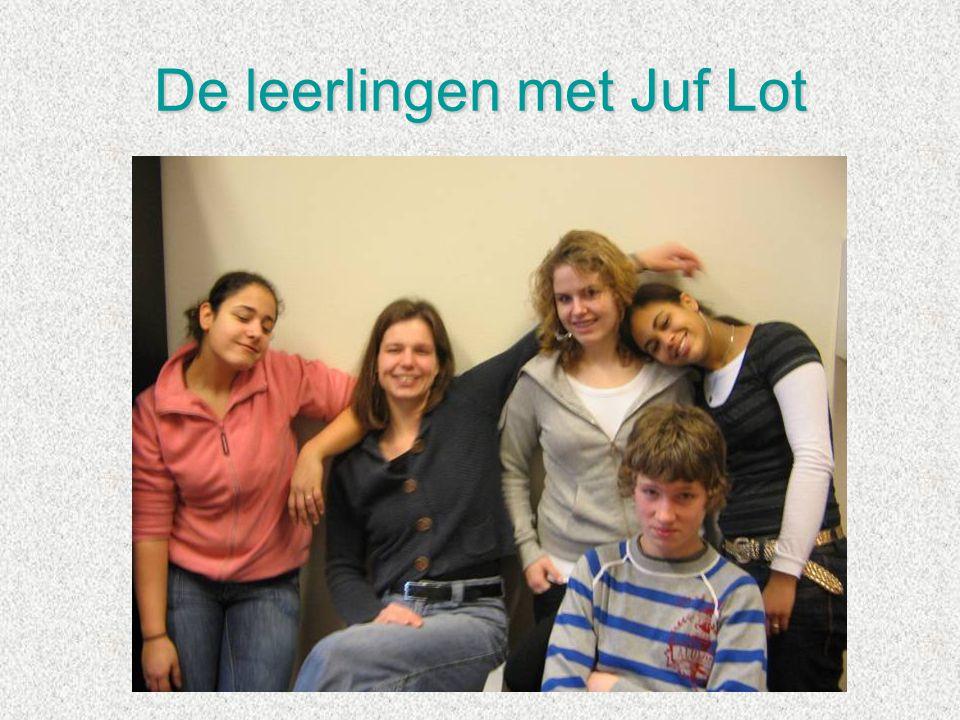 De leerlingen met Juf Lot