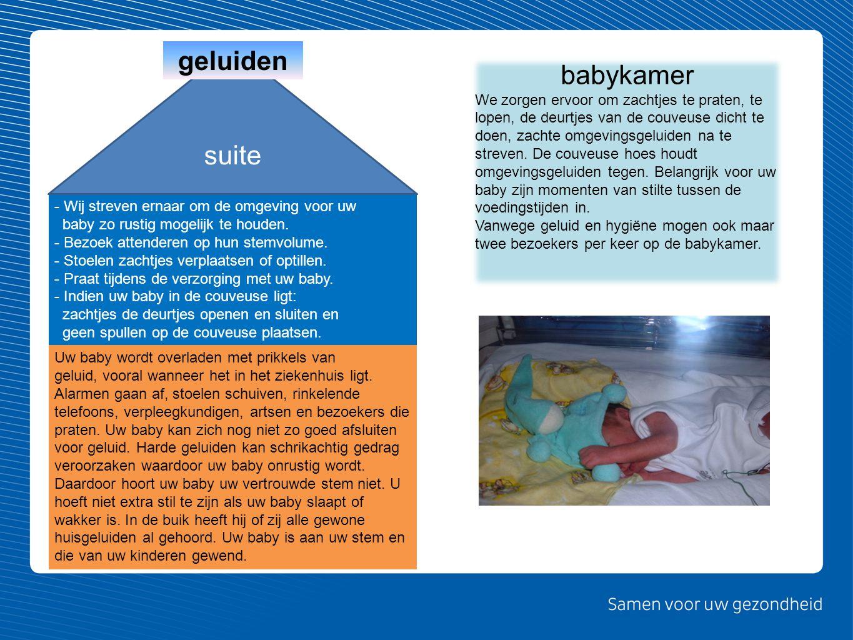 Uw baby wordt overladen met prikkels van geluid, vooral wanneer het in het ziekenhuis ligt. Alarmen gaan af, stoelen schuiven, rinkelende telefoons, v