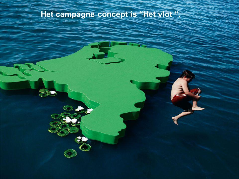 """Het campagne concept is """"Het vlot """"."""