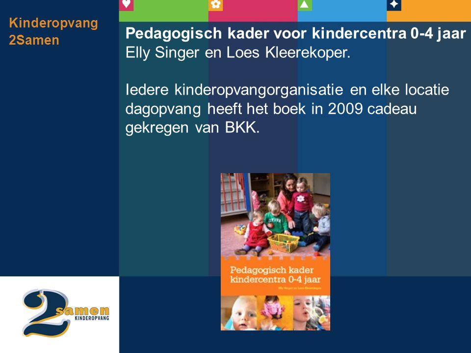 Kinderopvang 2Samen Pedagogisch kader voor kindercentra 0-4 jaar Elly Singer en Loes Kleerekoper. Iedere kinderopvangorganisatie en elke locatie dagop