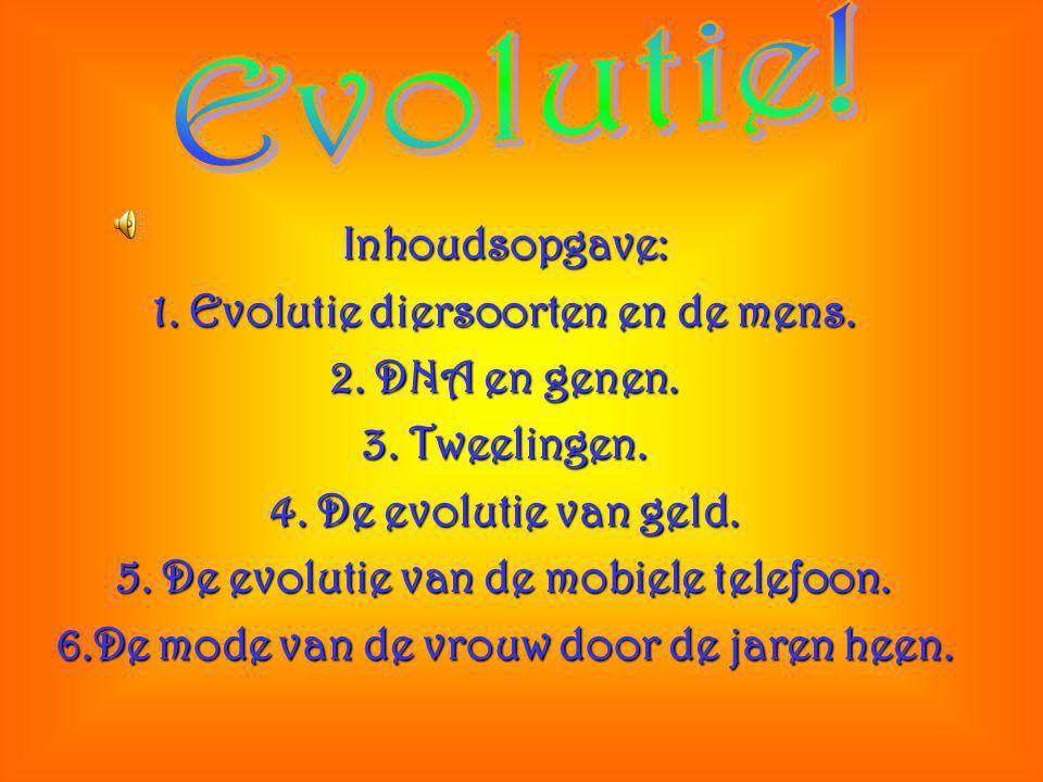 Inhoudsopgave: 1.Evolutie diersoorten en de mens.