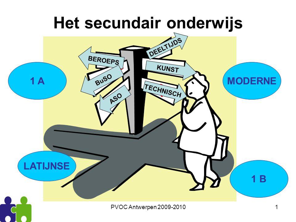 PVOC Antwerpen 2009-201012 De structuur: Een basisschema van 3 graden van 2 jaar