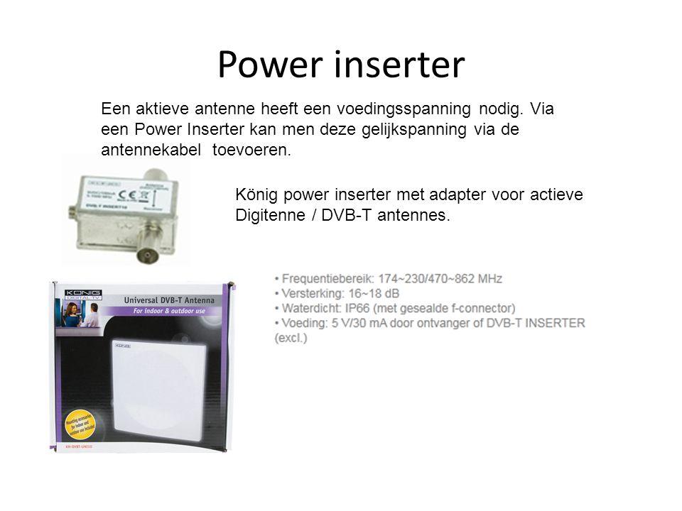 Power inserter König power inserter met adapter voor actieve Digitenne / DVB-T antennes.