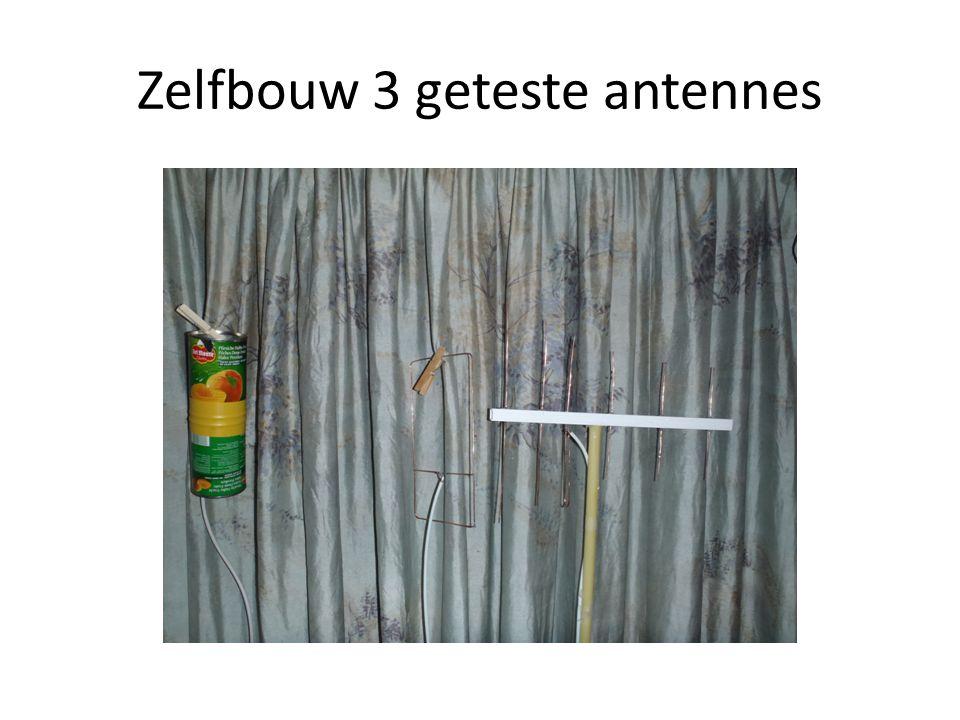 Zelfbouw 3 geteste antennes