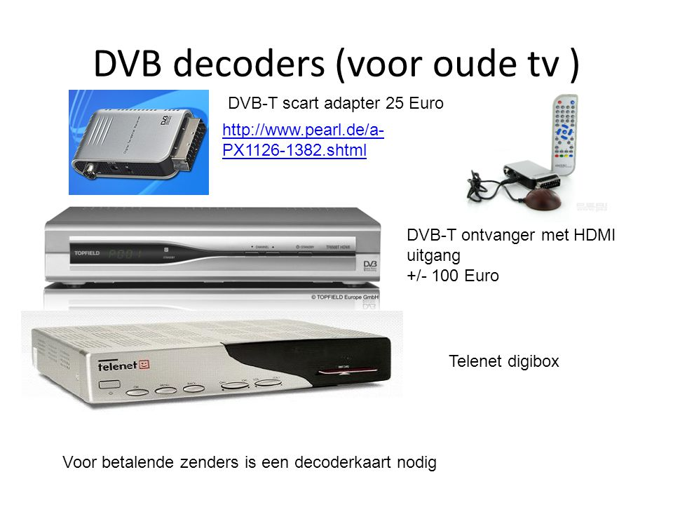 DVB decoders voor TV en PC