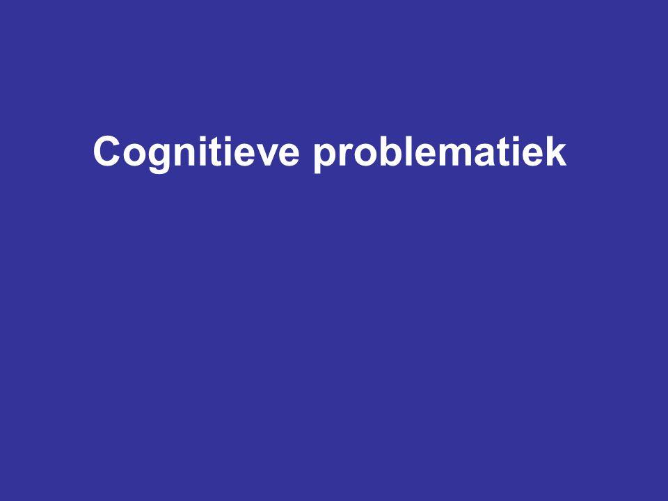Behandeling chronische cognitieve problematiek •Voorlichting aan patiënt en familie •Psycho-educatie •Aanleren van strategieën tot vele jaren na het letsel •Gebruik van hulpmiddelen •Aanpassing van de omgeving •'Neuropsychotherapie'