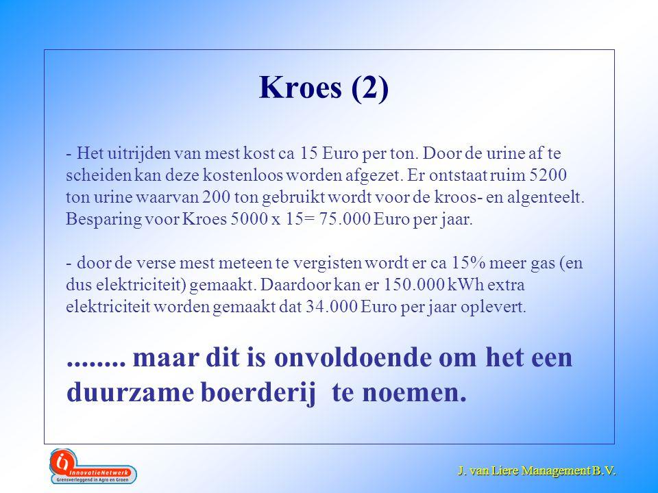 J. van Liere Management B.V. J. van Liere Management B.V. Kroes (2) - Het uitrijden van mest kost ca 15 Euro per ton. Door de urine af te scheiden kan