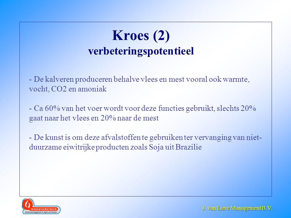 J. van Liere Management B.V. J. van Liere Management B.V. Kroes (2) verbeteringspotentieel - De kalveren produceren behalve vlees en mest vooral ook w