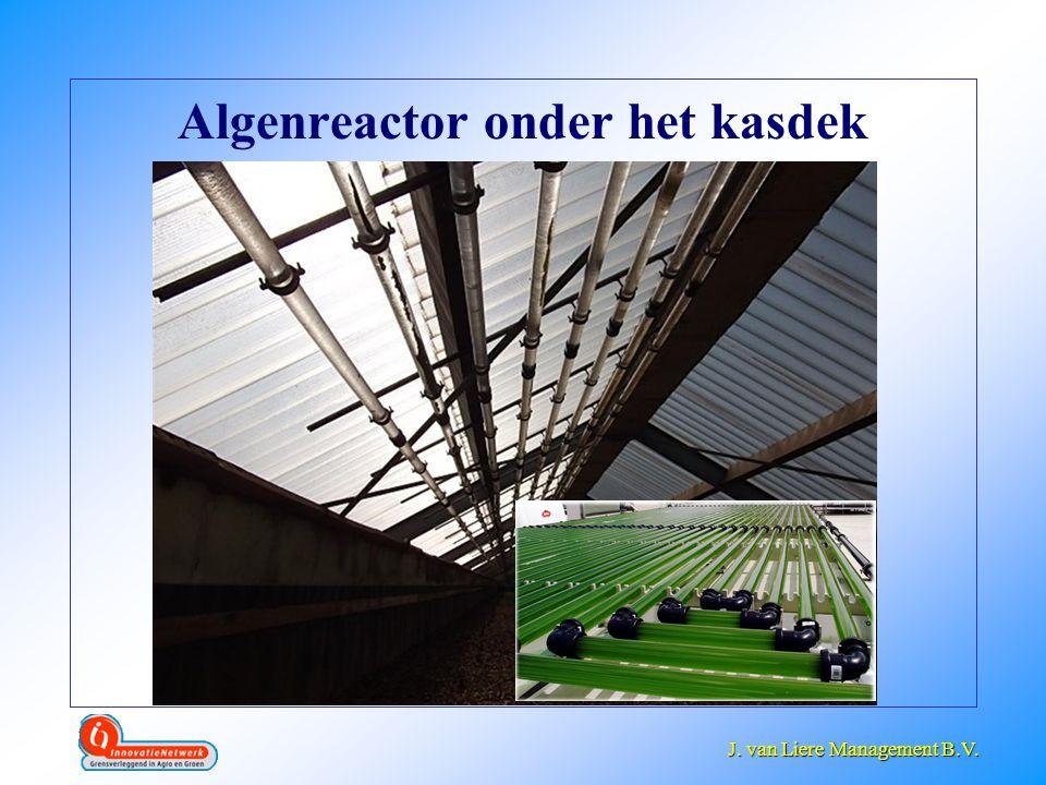 J. van Liere Management B.V. J. van Liere Management B.V. Algenreactor onder het kasdek