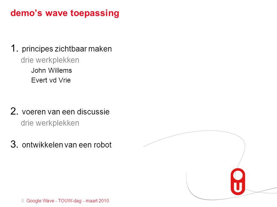 8 Google Wave - TOUW-dag - maart 2010 demo's wave toepassing 1.